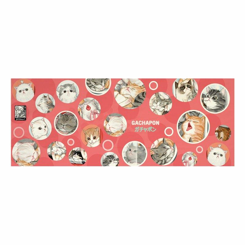 日本面料,帆布面料,印有十幾隻貓,無邊框