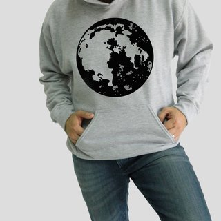 Super Moon-Planets,Unisex Men's Women Unisex Hoodies,Couple Shirt,Sport gray