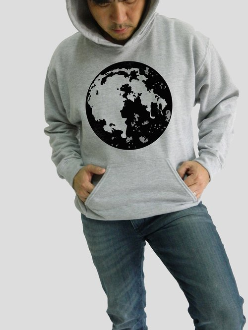 Super Moon-Planets T Shirt,Earth,Moon,Unisex Men's Women Unisex Hoodies,Couple Sweatshirt,Pullover,Illustration Art,Christmas Gifts,Quality Sweater