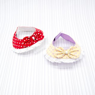 【Momoji】 Pet Collar Bib - Polka