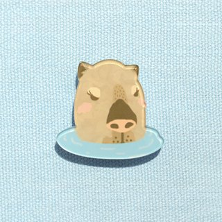 [Exclusive small things] San warm bubble soup Dolphin Jun - thick cut pin