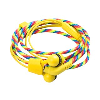 British Wraps [Limited] Pastel Fashion Knit Bracelet Earphone Rainbow