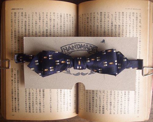 Papa's Bow Tie- antique handmade cloth flowers tie tie Reform - Night Lansing Chen - narrow version