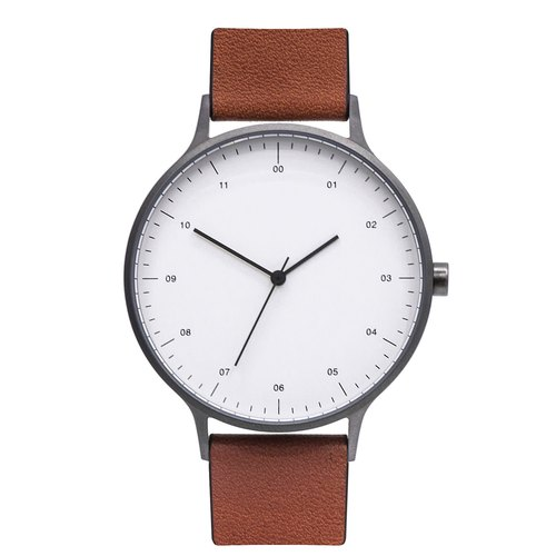 BIJOUONE WATCHES He Oak Bay B302 series Swiss movement watches literary minimalist retro quartz watch 302-GM gun color