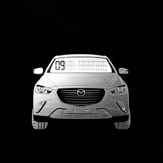 [] MAZDA CX3 exclusive hair temporary parking card number