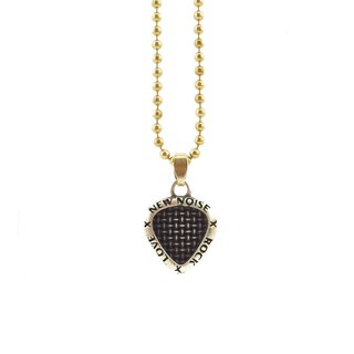 Rock N Love Microphone Texture PICK Necklace