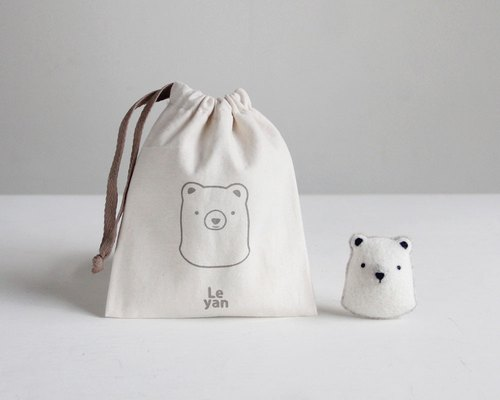 Le Yang · fun sheepskin material package - white bear Enu pin