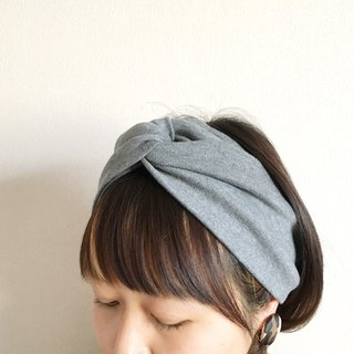 hair band plain charcoal gray -Tshirt fabric-