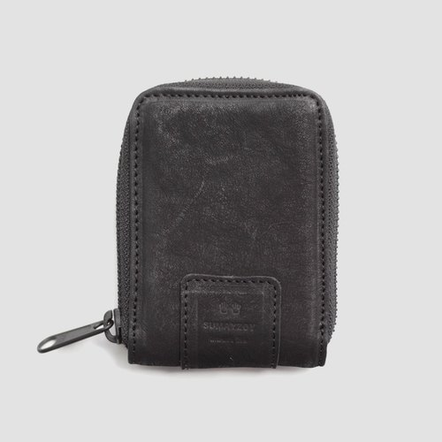 SUMAYZOY vol.1 order sense order water dyed dumb leather kraft card coin purse purse A10 black