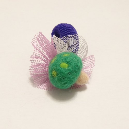 mushroom of wool hair ring for children(Single ball) - Wool felt