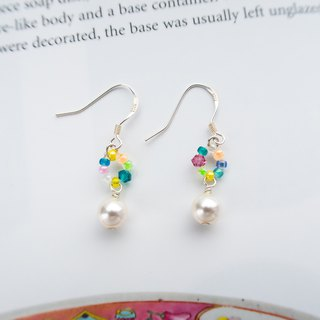 Beaded Series | Candy Donuts | Handmade 925 Silver Earrings
