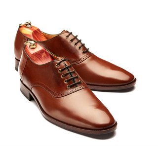 Lin Guoliang Saddle Oxford Shoes Saddle shoes Brown