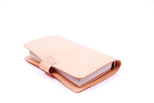 your name. a6 loose leaf leather vegetable tanned notebook