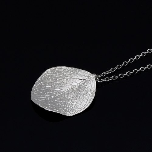 Leaf Silver Necklace - Nature Plant