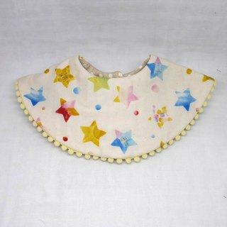 Japanese Handmade 8-layer-gauze 360 circle bib with bonbon