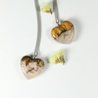 Your Signature (Burl wood) x ROSE necklace