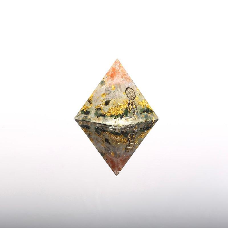 捕夢網生命之樹-奧剛金字塔Orgonite水晶礦石招財、聚財、魄力