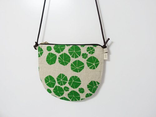 Screen printing  crossbody bag  Nasturtium