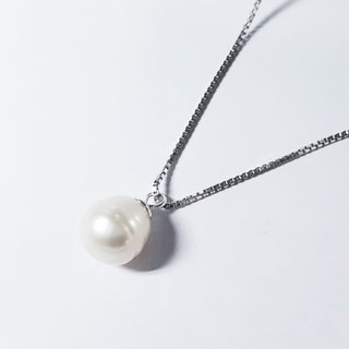 // // Silver Towers freshwater pearl natural pearl necklace Valentine's Day gift