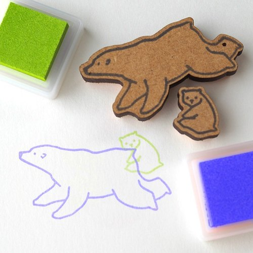 Oyako stamp polar bear