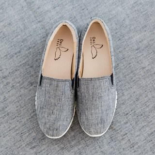 Japanese fabric super lightweight casual shoes - coffee gray gold