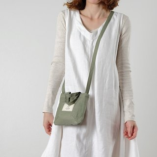 Mini Avocado Linen Sling Bag