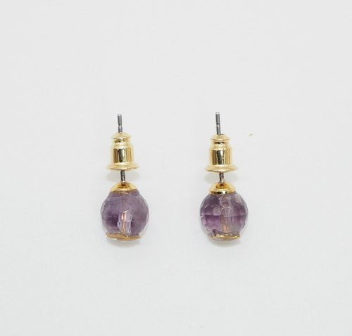 GD CLASSIC- light amethyst earrings. Stone semantics - Wisdom