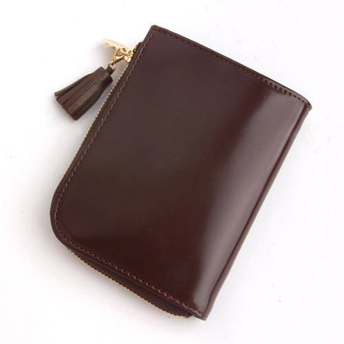 韓國Socharming-流蘇風琴零錢包 Tidy Tassle Wallet-Brown