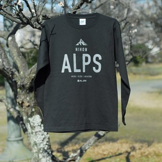 """ALPS"" long-sleeved T-shirt (Black)"