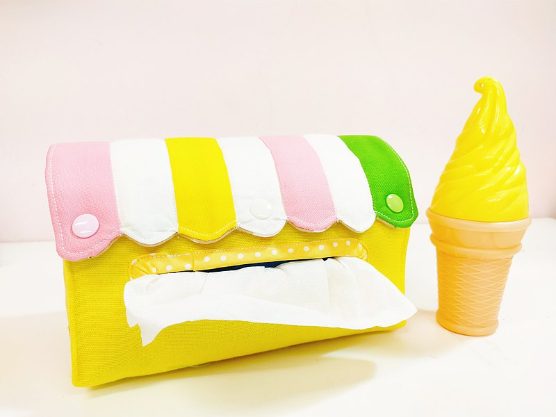 Ice cream dessert shop paper cover toilet paper cover paper tray