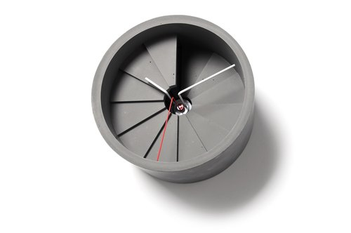 4th Dimension Wall Clock (Red/Grey)