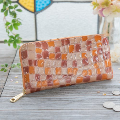 Japanese Manufacturers Cowhide Costume Coloring Glasses Fresh Citrus Red made in JAPAN handmade leather wallet