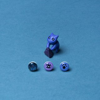 Exclusive Product - Purple Mystic Cat Earrings