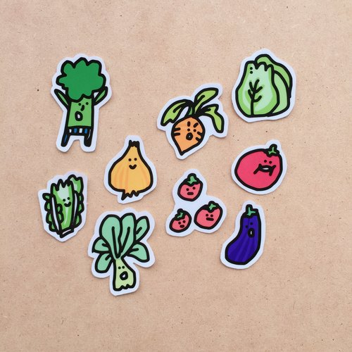 Vegetable baby sticker bag (large)