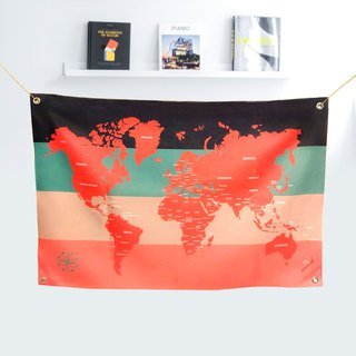 Customized world map tarpaulin rosy rose you