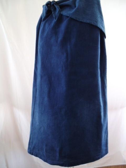 Indigo Long winding skirt