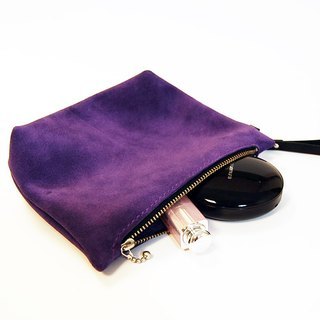 Purple burdock cosmetic bag / clutch bag / small