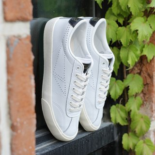 TOUCH GROUND VINTAGE BOWLING SNEAKERS WHITE BLACK P00000TW