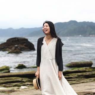 [Tip cloth for wind] summer knit cardigan oblique stack four-color original design