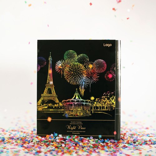 Christmas gift -LAGO fireworks series - Color hand-scraped paint a picture book - fireworks celebration, LGO31011
