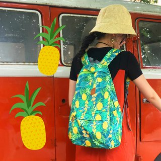 New pineapple element folding backpack ultra light travel portable light bag female
