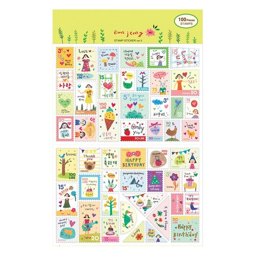 7321Desgin- mini stamp sticker set V3-Eunjung, 7321-02825
