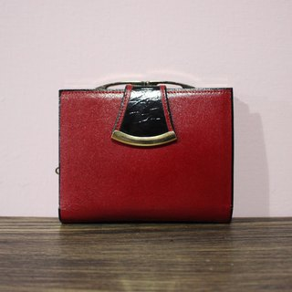 (Vintage) Renoma deep red new antique wallet wallet (birthday gift Valentine's Day gift)