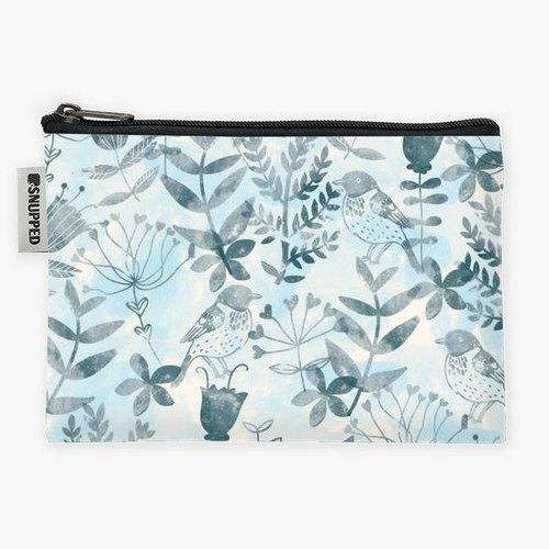 Snupped Zipper - Accessories Pouch - Floral & Bird II