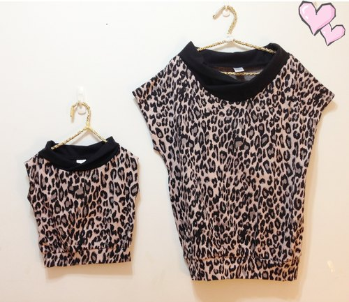 Light sweet Family fitted autumn and winter series - was thin pink sweater leopard