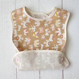 Apricot Flying Bird Oilproof Waterproof Bibs Miu Yue Gift Growing Bib