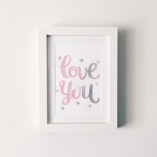 Wall Art LOVE YOU