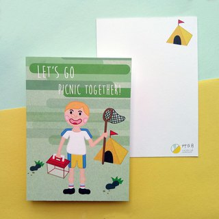 Go outing with cute friendship postcards
