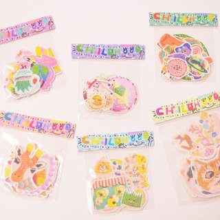 Embroidery stickers full package of six into the group