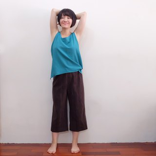 3:37 pm Wide trousers Japanese first dyed cotton deep iron gray